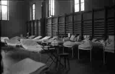 Sjukstugan på 21:a etappsjukhuset 11 augusti 1943