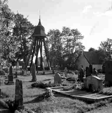 Arby kyrka klockstapel 1950