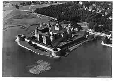 Flygbild över Kalmar slott
