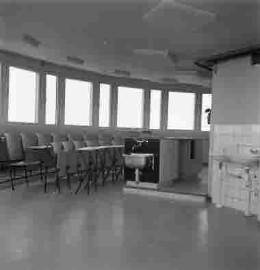 Nya sjöbefälsskolan interiör radartornet 18/10 1962