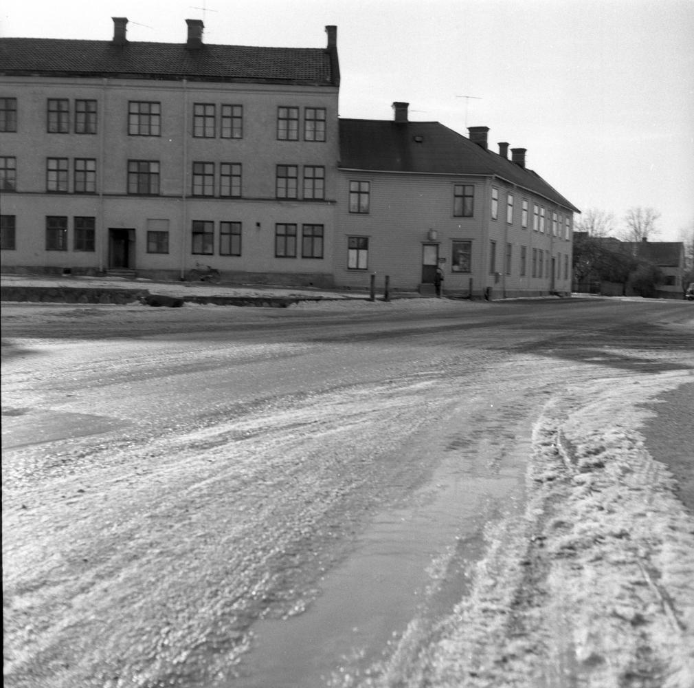 Långkatekesen Drottning Margaretas väg Ståthållargatan februari 1965
