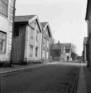 Nybrogatan 20-. 25/4 1964. Från Skvallertorget