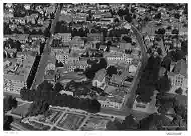 Flygbild över Malmen