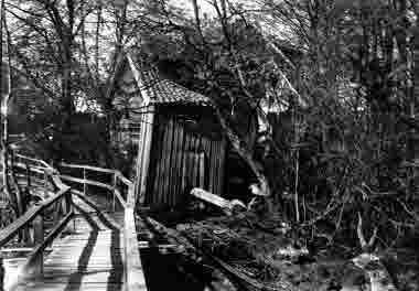 Parti av kvarnen i ån i Mortorp 14/5 1938