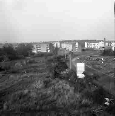 Utsikt från nya sjöbefälsskolan mot norr 27/10 1961