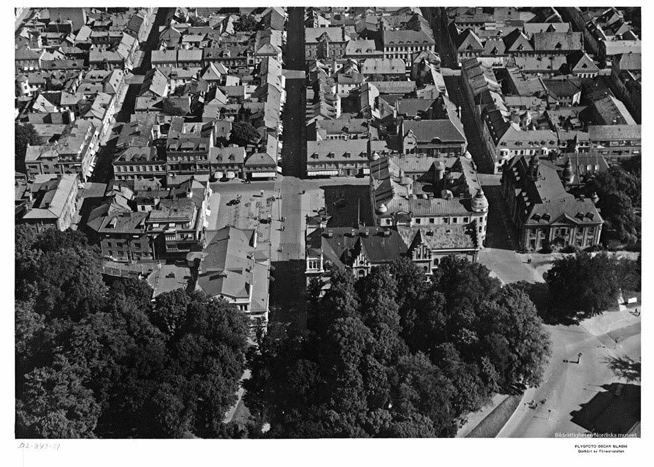 Flygbild över Kvarnholmen