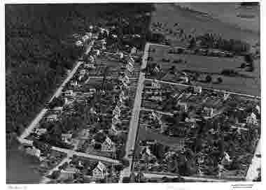 Flygbild över Berga