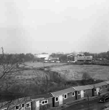 Utskikt från nya sjöbefälsskolan mot öster Norrgård 27/10 1961