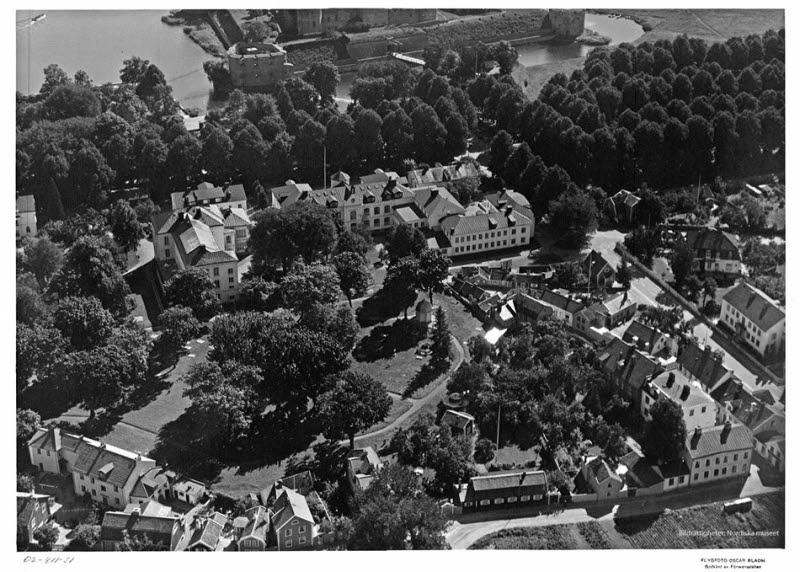 Flygbild över Gamla stan
